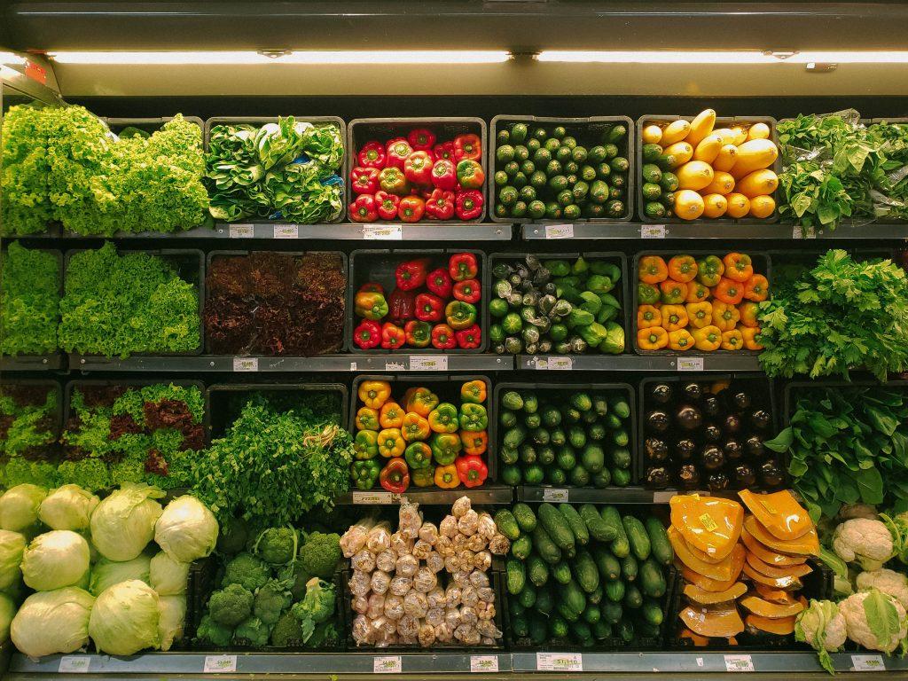 Rayon légumes magasin